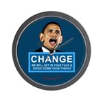 Obama-style CHANGE Wall Clock