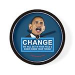 Obama-style CHANGE Wall Clock