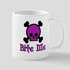 Bite Me Skull Black Spot Mug