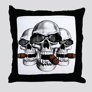 Cool Skulls Throw Pillow