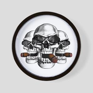 Cool Skulls Wall Clock