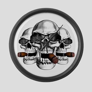 Cool Skulls Large Wall Clock