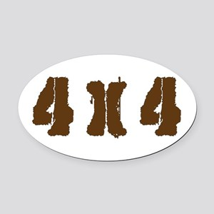 Off Road 4 X 4 Oval Car Magnet
