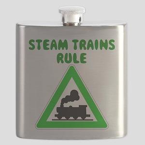 Steam Trains Rule Flask
