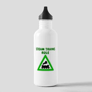 Steam Trains Rule Water Bottle