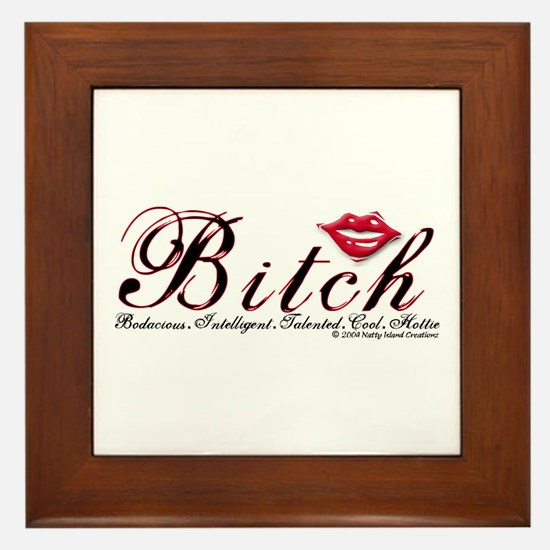 Bitch Framed Tile