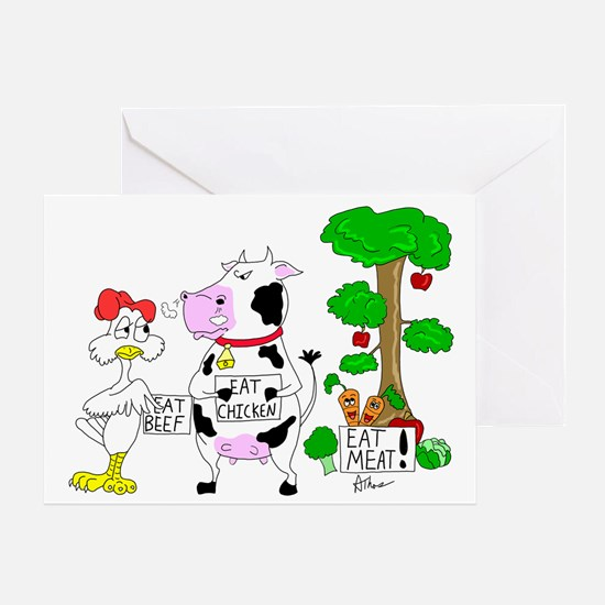 Meat Eaters Greeting Card
