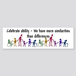 """Celebrate Ability"" Sticker (Bumper 50 p"
