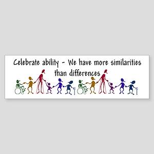 """""""Celebrate Ability"""" Sticker (Bumper 50 p"""