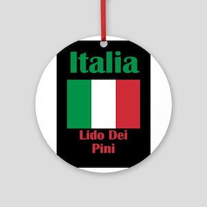 Lido Dei Pini Italy Round Ornament