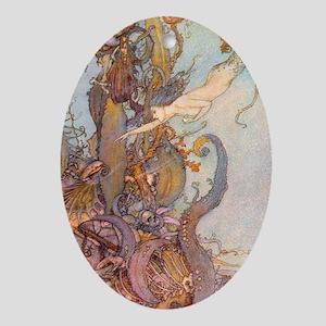 The Little Mermaid Keepsake (Oval)