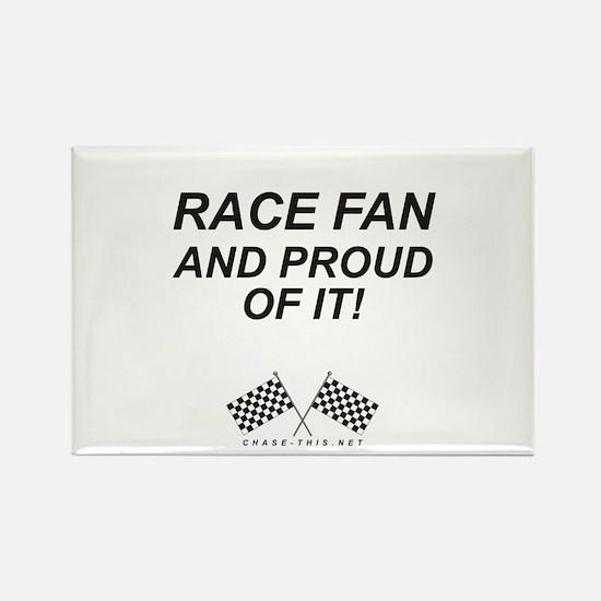 Checker Flag Proud Race Rectangle Magnet