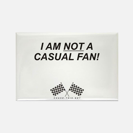 Checker Flag Not Casual Rectangle Magnet