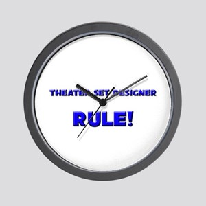 Theater Set Designer Rule! Wall Clock