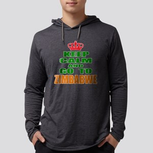 Keep Calm And Go To Zimbabwe Cou Mens Hooded Shirt