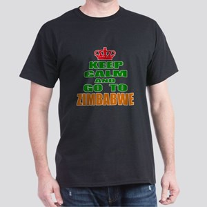 Keep Calm And Go To Zimbabwe Country Dark T-Shirt