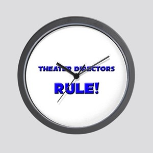 Theater Directors Rule! Wall Clock