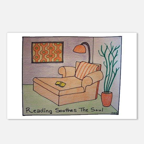Reading Soothes the Soul Postcards (Package of 8)