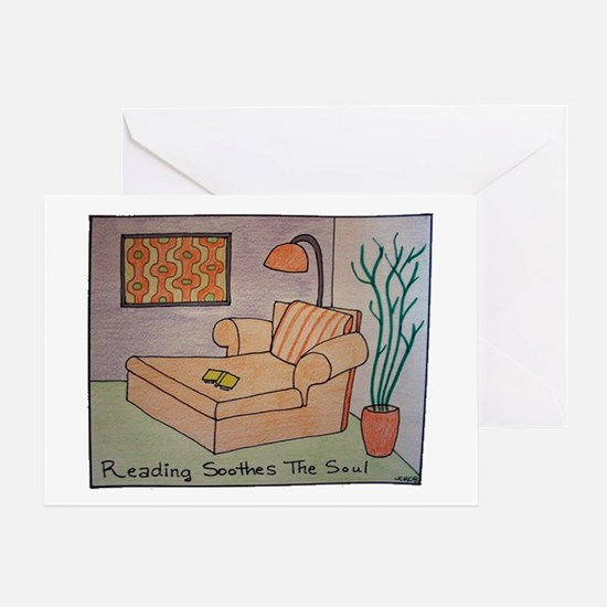 Reading Soothes the Soul Greeting Card