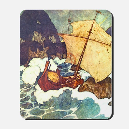 Sinbad and the Boat Mousepad