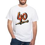 40th birthday & still hot White T-Shirt