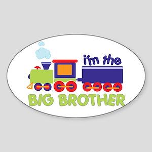 train big brother t-shirts Oval Sticker