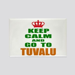 Keep Calm And Go To Tuvalu Countr Rectangle Magnet