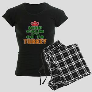 Keep Calm And Go To Turkey C Women's Dark Pajamas