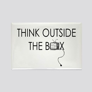 Think outside the box. Rectangle Magnet