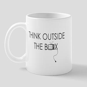 Think outside the box. Mug