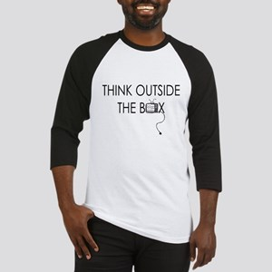 Think outside the box. Baseball Jersey