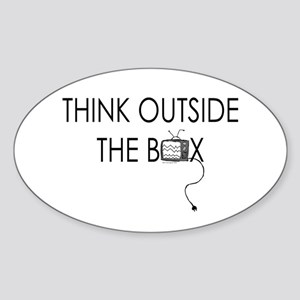 Think outside the box. Oval Sticker