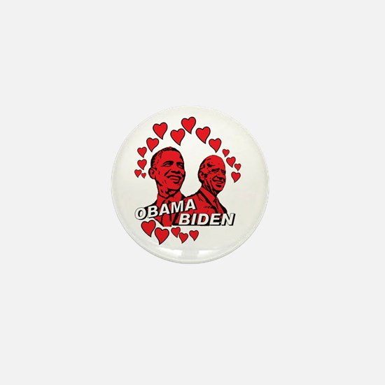 Obama Biden - Feel the love Mini Button