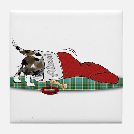 Catahoula Raiding Christmas S Tile Coaster