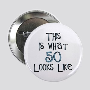 "50th birthday looks like 2.25"" Button (10 pack)"