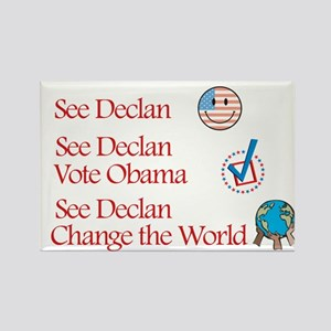 See Declan Vote Obama Rectangle Magnet