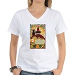 Fates Fall by the Cards Women's V-Neck T-Shirt