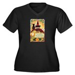 Fates Fall by the Cards Women's Plus Size V-Neck D