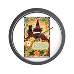 Fates Fall by the Cards Wall Clock