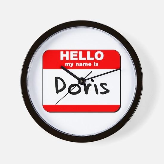 Hello my name is Doris Wall Clock