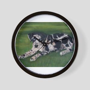 Catahoula Puppy Wall Clock