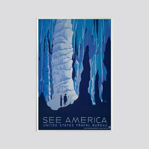 See America; Carlsbad Caverns Rectangle Magnet