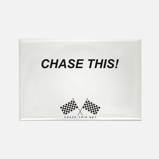 Checker Flag Chase This Rectangle Magnet