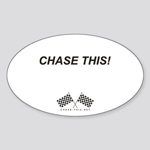 Checker Flag Chase This Oval Sticker
