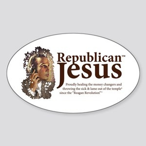 Republican Jesus Oval Sticker
