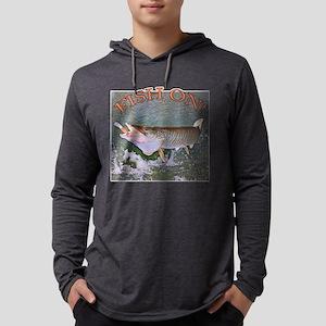 Fish on musky Long Sleeve T-Shirt