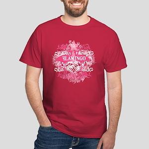 Pink Flamingo Abstract Dark T-Shirt