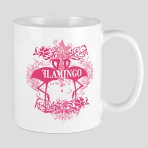 Pink Flamingo Abstract Mug