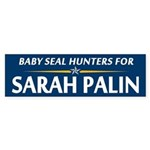 Baby Seal Hunters for Palin Bumper Sticker
