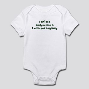 Need to Speak to Nanny Infant Bodysuit